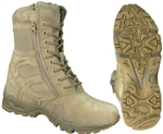 "Forced Entry Tactical 8"" Desert Boot w/side Zip #5357"